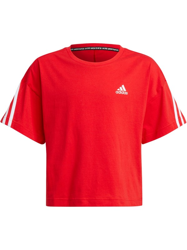 adidas Kinder Organic Cotton Future Icons Sport 3-Streifen Loose T-Shirt