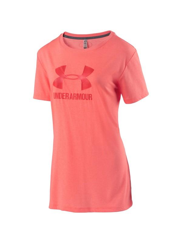 UNDER ARMOUR Damen Trainingsshirt Threadborne mit Logo Kurzarm